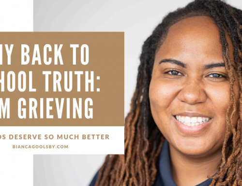 My Back To School Truth: I'm Grieving